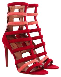 ALAÏA Azazzedine Alaia Strappy Red/Orange Sandals