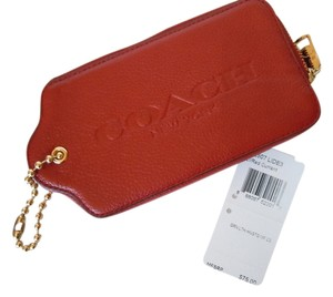 Coach Leather Hangtag Multifunction Case red currant 52507
