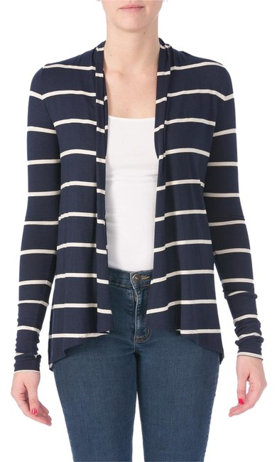 Preload https://item5.tradesy.com/images/three-dots-navy-white-style-number-jk734s-cardigan-size-petite-8-m-10378894-0-1.jpg?width=400&height=650