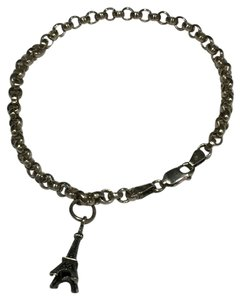 Other Sterling Silver Eiffel Tower Charm Bracelet (7-1/2