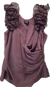 Adrianna Papell Holiday Evening Sleeveless Top Purple