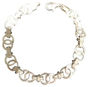 Sterling Silver Interlocking Circles Bracelets (7-1/4
