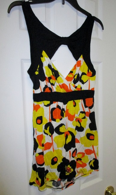 Rue 21 Floral Open Back Xl Top Yellow