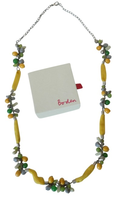 Boden Yellow Fabric Bead Necklace Boden Yellow Fabric Bead Necklace Image 1