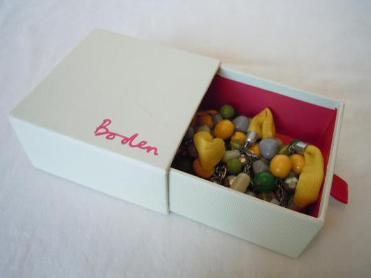 Boden NIB Boden Fabric Bead necklace