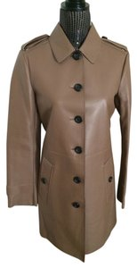 Burberry London Leather Trench Trench Coat