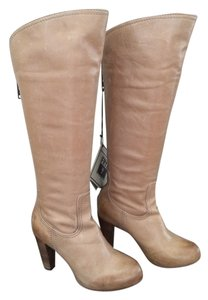 Frye Leather Beige Knee High Riding Tan/Cognac Boots