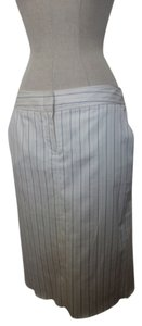 BCBGMAXAZRIA Bcbgmax Sumemr Classy Skirt White with Navy Blue Stripes