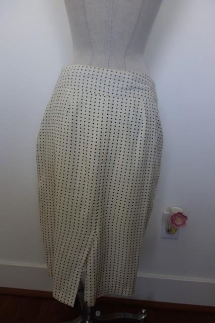 Other Dot Dot Classic Oldies Classy Sexy Skirt White with Black Polka Dots