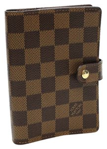 Louis Vuitton Louis Vuitton Agenda PM Damier Ebene Agenda Cover Canvas Brown