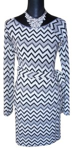 M Missoni M Missoni Black & White Chevron Top & Matching Wrap Skirt Sz 4/6