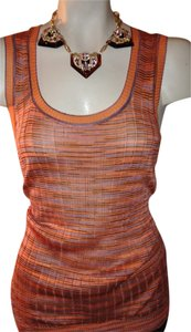 Missoni Sleeveless Silky Italy Top cream/coral/blue/multi