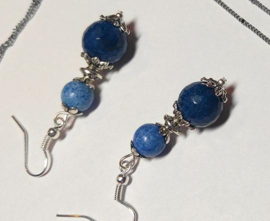 Other Lapis Lazuli Elephant Stone Necklace Sterling Silver Earrings A066