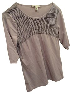 Banana Republic Stretchy Work Textured Cute Top Lavender