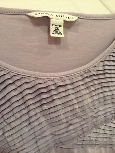Banana Republic Stretchy Work Purple Textured Cute Top Lavender