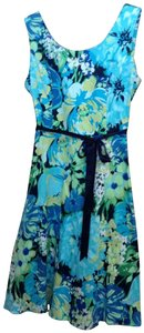 Studio One short dress Blue Floral on Tradesy