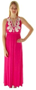 Pink Embellishment Maxi Dress by INC International Concepts