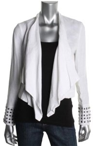INC International Concepts White Silver Blazer