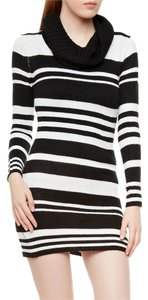 H&M Striped Turtleneck Warm Sweater