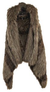 Apostrophe Draped Fur Vest