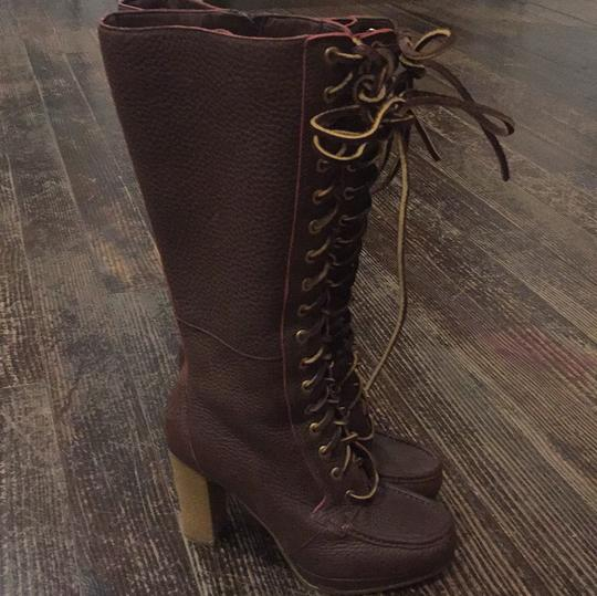 Rockport Brown with red stitching Boots