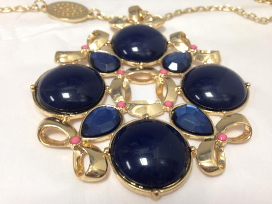 Lilly Pulitzer NWOT Lilly Pulitzer Blue coral accents Gold Long Necklace