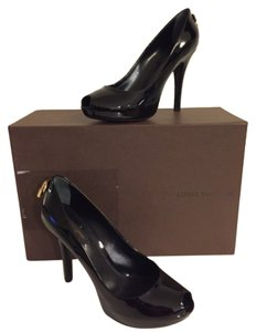 Louis Vuitton 'oh Really' Peep Toe Pumps Black Platforms