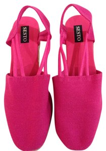 Sesto Meucci Canvas Size 6m Pink Wedges