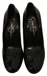 Jessica Simpson Leather High Heels Black Pumps