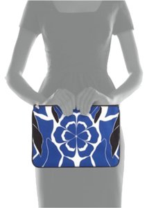 Alexander McQueen Black Blue White Clutch
