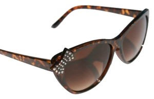 Adorable Cat Eye Sunglasses with Rhinestone Bows ~NEW