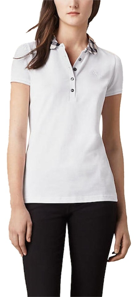 Burberry brit nwt burberry 195 womens polo shirt blouse for Women s embellished t shirts