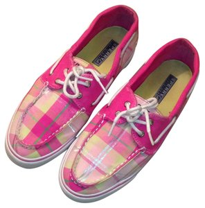 Sperry Pink plaid Flats