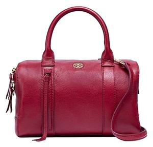 b9848108ae4 Tory Burch Brody Small Brody: Msrp Red Leather Satchel - Tradesy