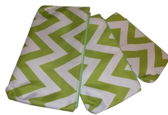 Preload https://item4.tradesy.com/images/white-and-lime-green-3-fun-cosmetic-bag-10387123-0-1.jpg?width=440&height=440