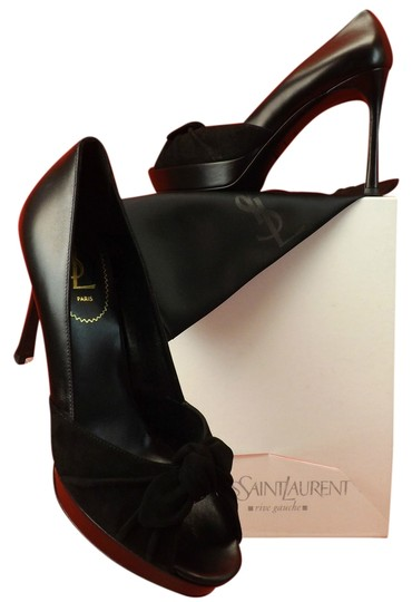 Preload https://item1.tradesy.com/images/saint-laurent-black-leather-suede-bow-palais-80-platform-pumps-size-eu-395-approx-us-95-regular-m-b-10387285-0-1.jpg?width=440&height=440