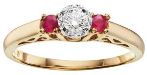 Cherish Always Cherish Always Gold Ruby and Diamond ring