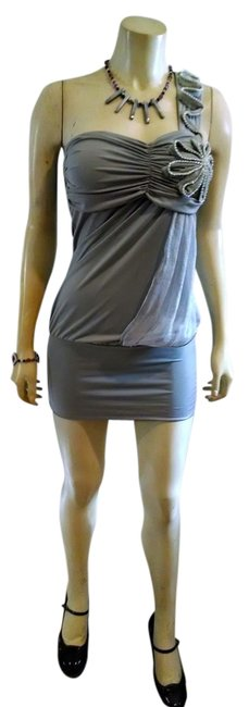 Preload https://img-static.tradesy.com/item/1038749/gray-new-one-shoulder-small-p689-mini-night-out-dress-size-4-s-0-0-650-650.jpg