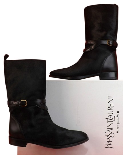 Preload https://item2.tradesy.com/images/saint-laurent-black-chyc-pony-hair-buckle-biker-flat-bootsbooties-size-eu-40-approx-us-10-regular-m--10387966-0-1.jpg?width=440&height=440