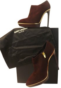 Saint Laurent Burgundy Boots