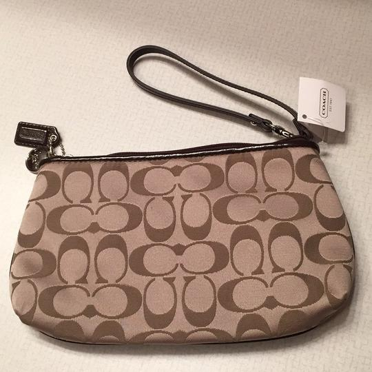 Coach Wristlet in Khaki