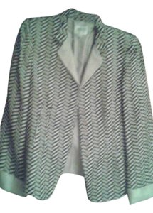 Giorgio Armani pale grey white black stripes Jacket