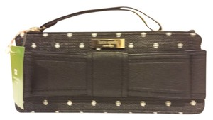 Kate Spade Wristlet in Black with cream dots