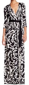 Black/Ivory Maxi Dress by Diane von Furstenberg
