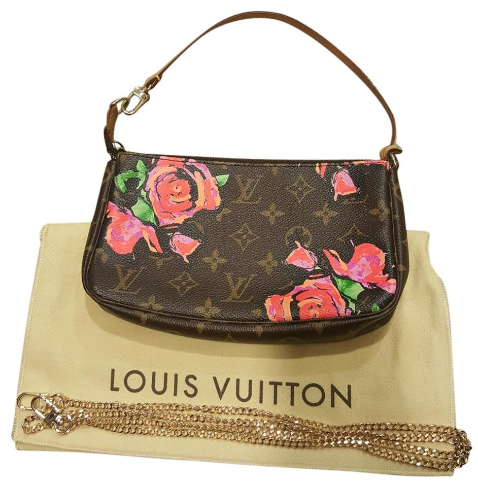 2472a767f212 Louis Vuitton Pochette Stephen Sprouse with Gold Chain Rose Monogram Canvas  Clutch