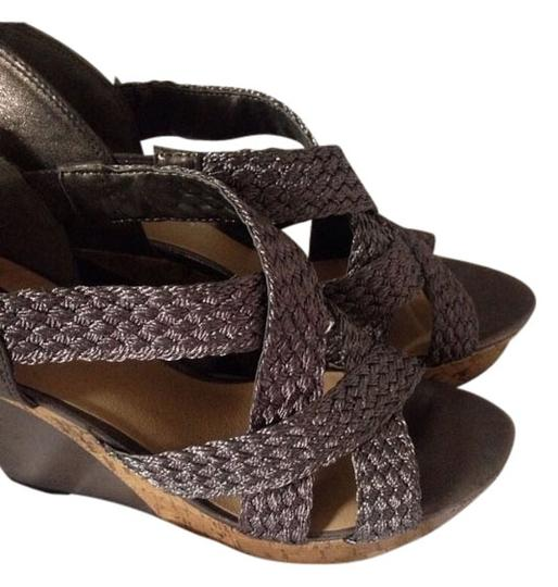 Guess Silver, Cork Wedges