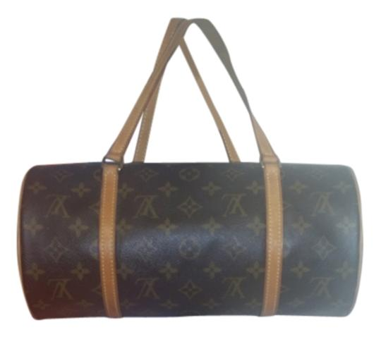 Preload https://item4.tradesy.com/images/louis-vuitton-brown-canvas-leather-shoulder-bag-10388968-0-2.jpg?width=440&height=440