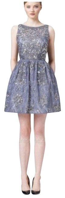 Item - Grey Silver Above Knee Cocktail Dress Size Petite 10 (M)