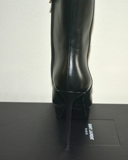 Saint Laurent Ysl Leather Black Boots