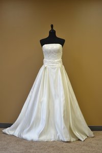 A Line Satin Wedding Dress Wedding Dress